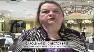 CAROLE YATES AT THE 2013 NEW YORK STATE CAREER SCHOOLS CONVENTION