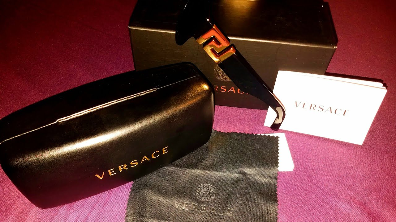 Black Squared Sunglasses versace Men Greca TKJF1lc
