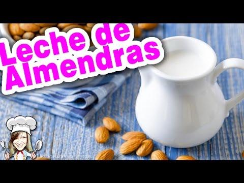 Leche de Almendras receta fácil, rápida y saludable