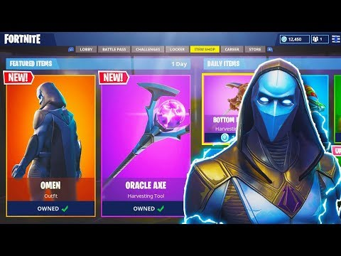 "NEW ""OMEN"" LEGENDARY SKIN + ""ORACLE AXE"" in Fortnite! – NEW Fortnite UPDATE (Fortnite Battle Royale)"