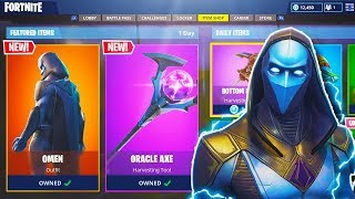 "NEW ""OMEN"" LEGENDARY SKIN + ""ORACLE AXE"" in Fortnite! - NEW Fortnite UPDATE (Fortnite Battle Royale)"