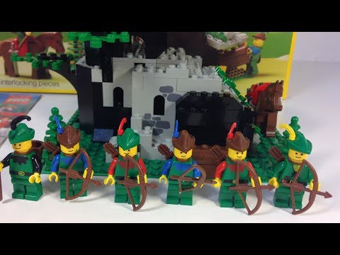 Lego Legoland Castle System 6066 Camouflaged Outpost Forestmen From
