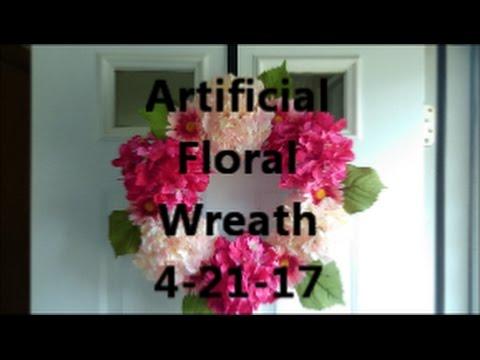 Artificial Floral Wreath 4-21-17
