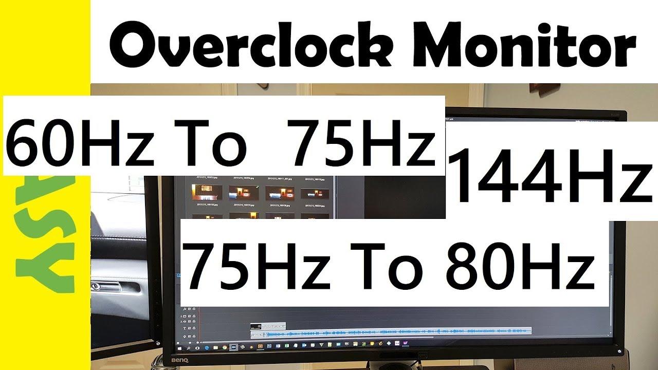 How to OVERCLOCK Acer Kg 271 MONITOR 60Hz/75Hz/120Hz/144Hz (Get Higher  Refresh Rates) Acer KG 271