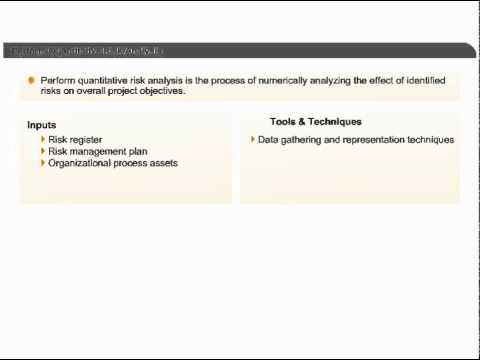 Perform Quantitative Risk Analysis Project Risk Management PMP - quantitative risk analysis