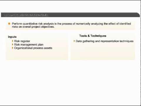 Perform Quantitative Risk Analysis Project Risk Management PMP - quantitative risk analysis