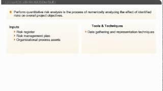 Perform Quantitative Risk Analysis | Project Risk Management | PMP Exam Prep Online