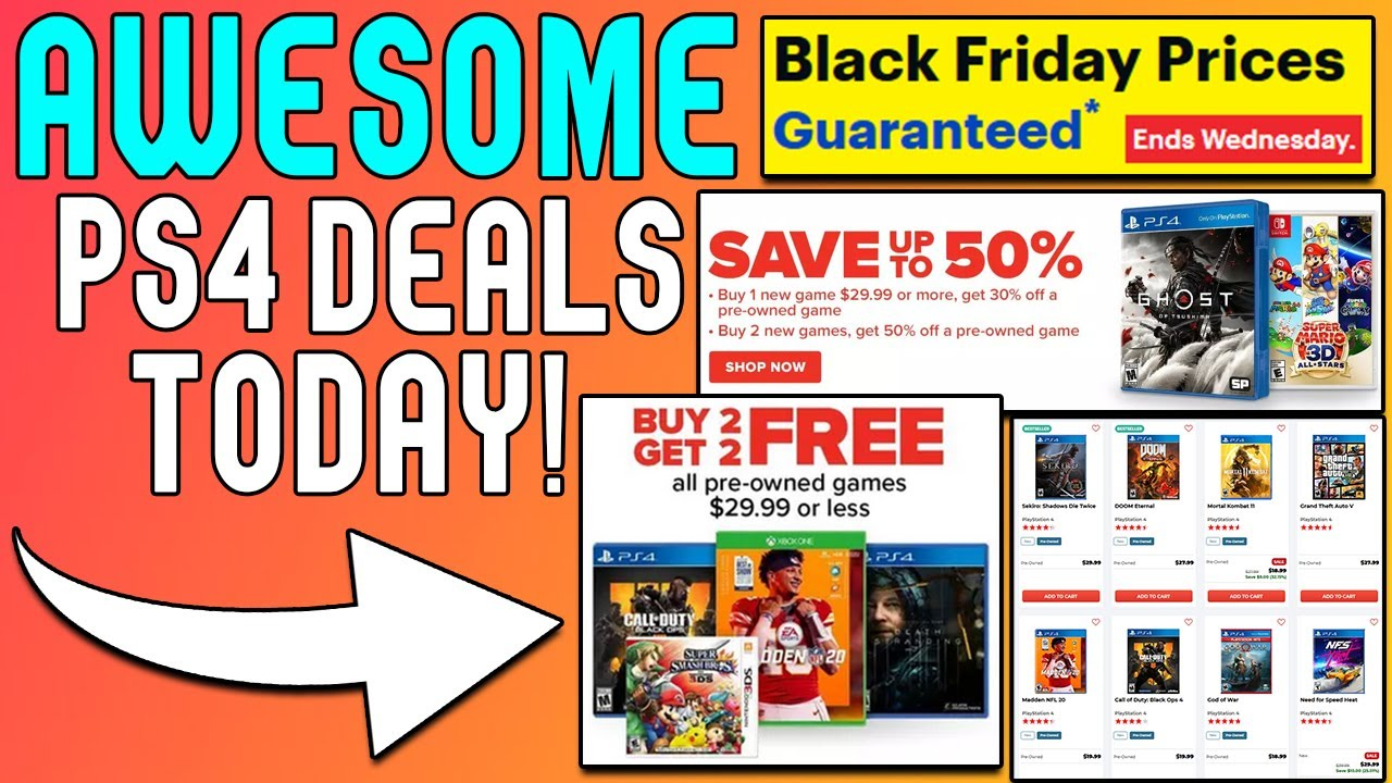 More Awesome Ps4 Game Deals Buy 2 Get 2 Free And More Sales Youtube