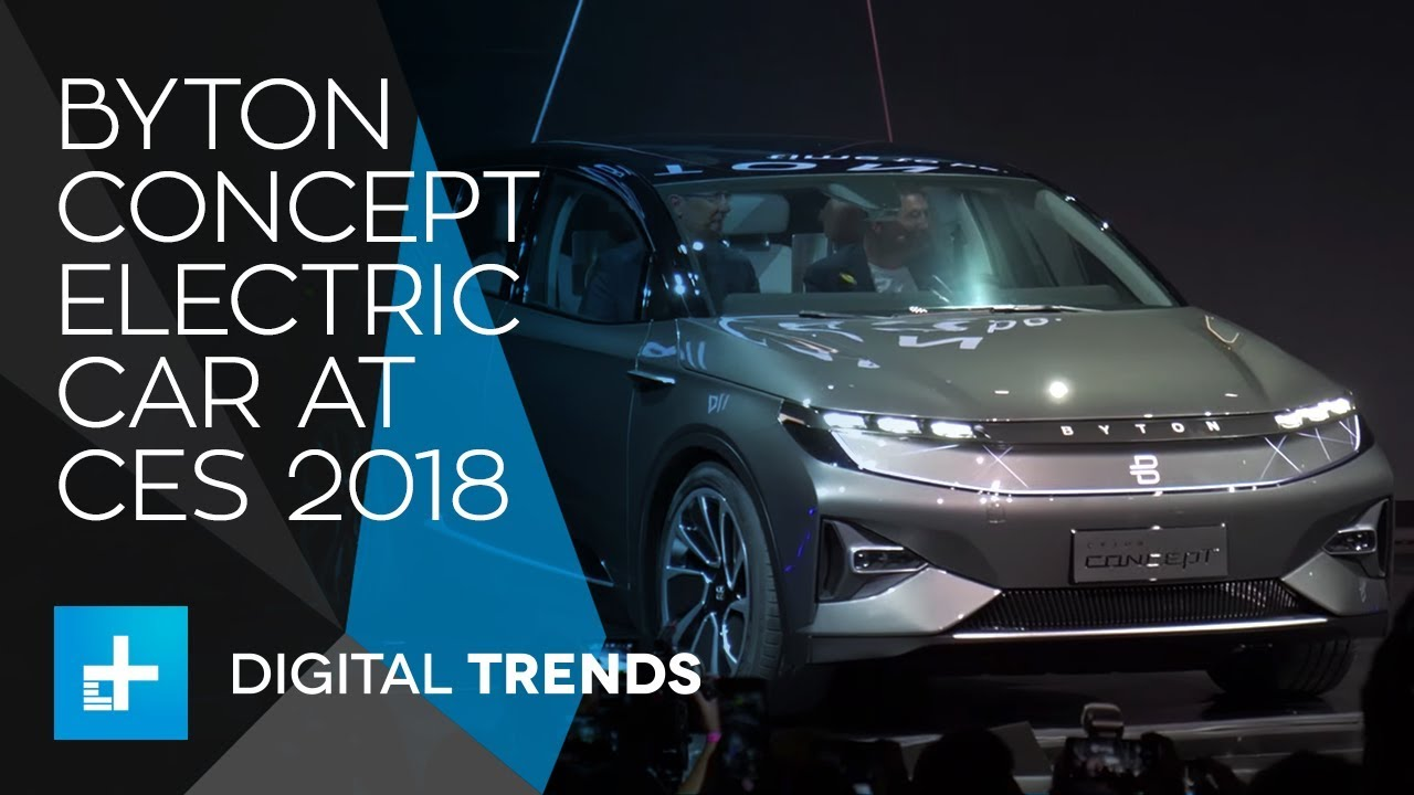 Byton Concept Electric Car at CES 2018