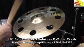 sabian hhx evolution o zone crash 18 the drum shop north shore