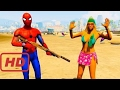 Peliculas de dibujos |  Spiderman Policeman on Police Car Arrested Girls - Cartoon for Kids