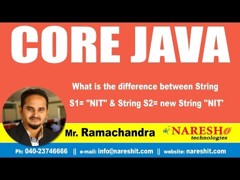 Core Java Tutotirl | What is the difference between String S1=