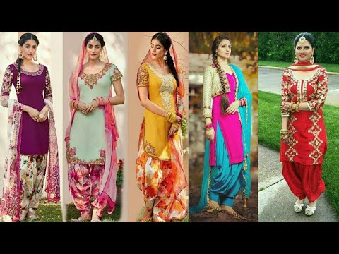 Latest Punjabi Suits Design 2020 Patiala Salwar Kameez Suit Design Youtube