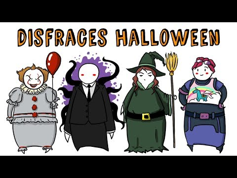 TOP 15 DISFRACES PARA HALLOWEEN 2018   Draw My Life 🎃 Especial Halloween TikTak Draw