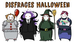 TOP 15 DISFRACES PARA HALLOWEEN 2018 | Draw My Life 🎃 Especial Halloween TikTak Draw