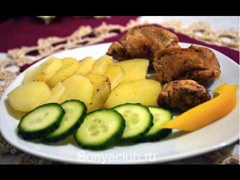 картошка курица мультиварка