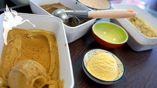 Cremiges Eis selber machen - Vanille, Stracciatella, Cappuccino & Oreo - Cremeeis - Kuchenfee AD