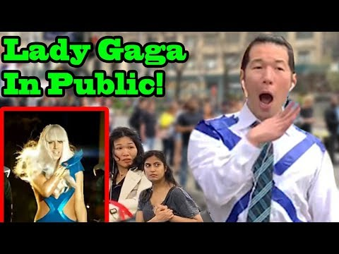 LADY GAGA in PUBLIC!!  (Shallow, Bad Romance, Poker Face)