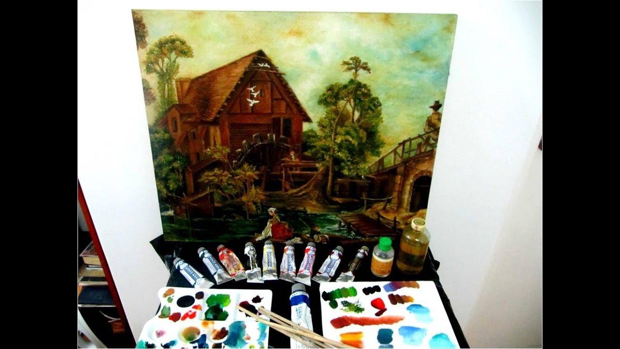 Pintura al leo como mezclar colores materiales y matizes for Colores de pintura