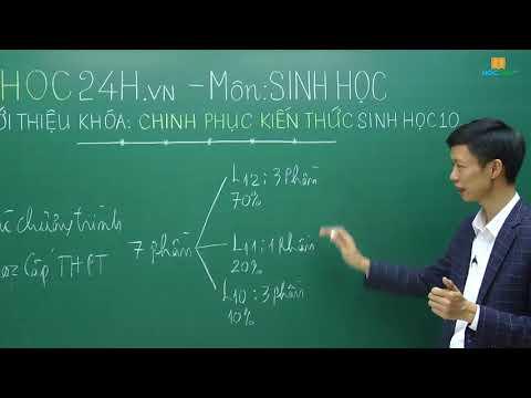Khóa học Chinh phục kiến thức lớp 10 môn Sinh học - Thầy Thịnh Nam