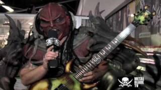 GWAR – Flattus Maximus shows off his custom Schecter guitar