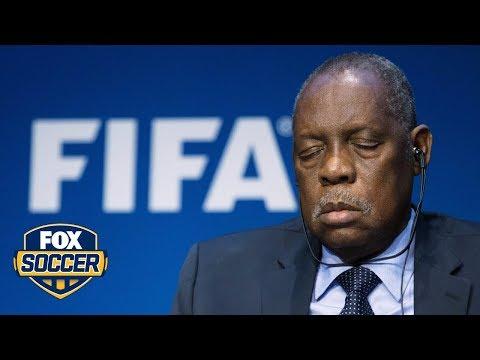 Did FIFA acting president Issa Hayatou fall asleep at press conference?