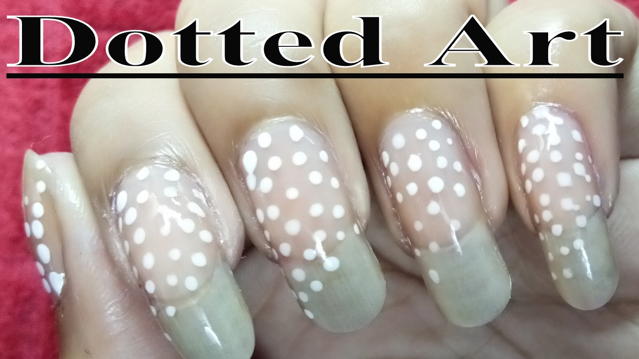fast and easy dotted nail polish designs at home - youtube