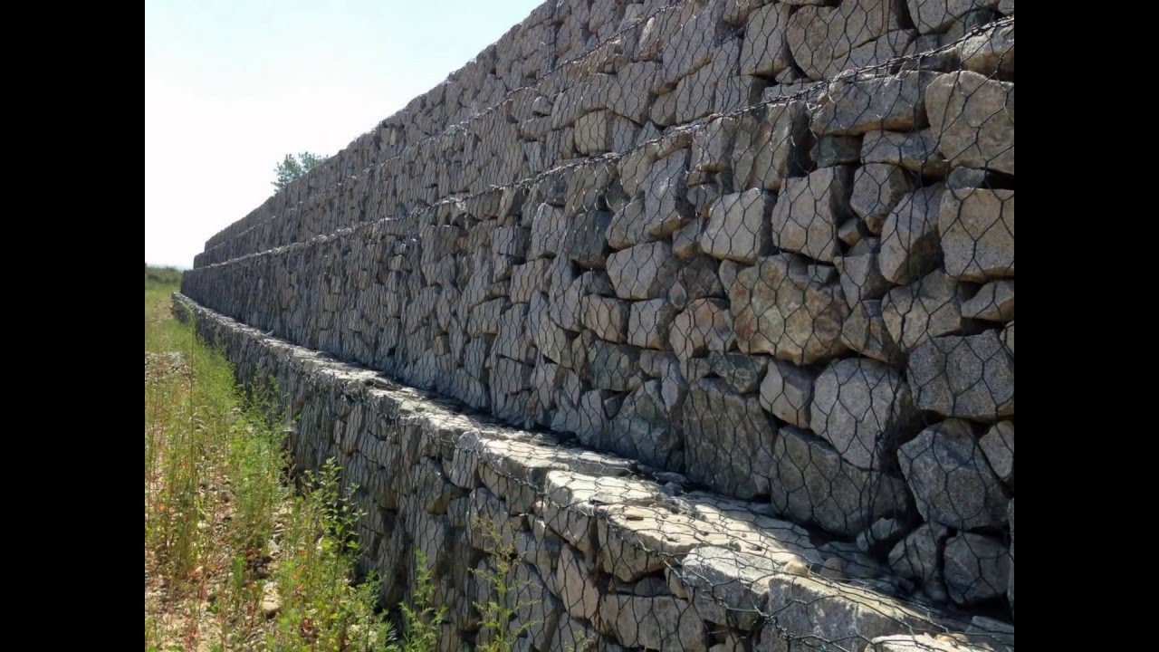 Gabion structures: photo, device, application 42