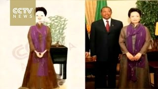 Cartoon drawings of China's First Lady Madame Peng Liyuan go viral