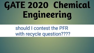 GATE 2020 (CH) : Questions to contest