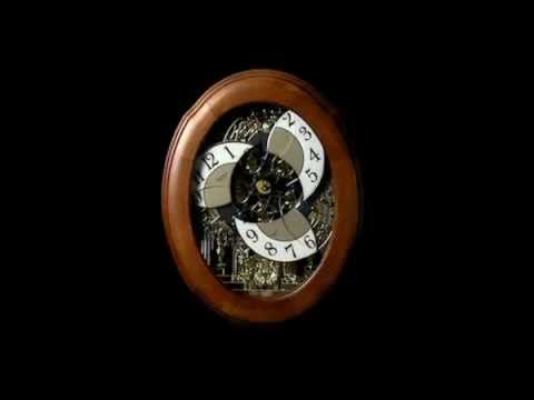 NOSTALAGIA OAK LEGEND RHYTHM Musical Motion Wall Clock 4MH833WB06