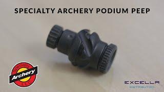 Specialty Archery Podium Peep DELUXE  Kit  With PEEP