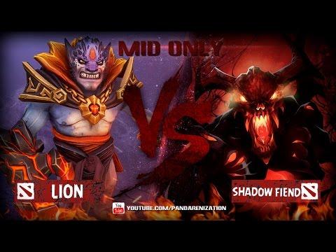 видео: lion vs shadow fiend [Битва героев mid only] dota 2