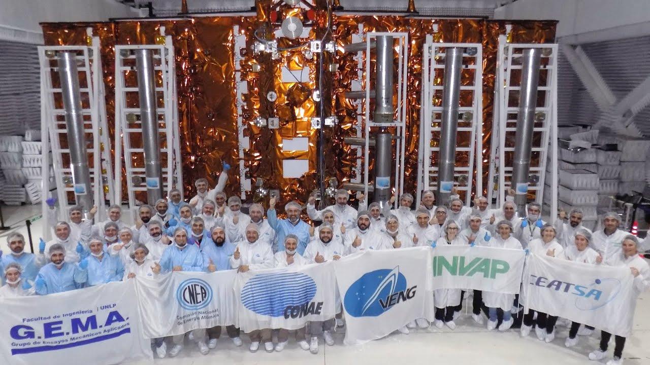 El satélite argentino SAOCOM 1B se prepara para su lanzamiento desde Cabo Cañaveral