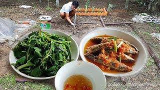 Mẹ nấu cơm chiều đơn giản rồi tranh thủ ra làm vườn | Món Ngon Mẹ Nấu