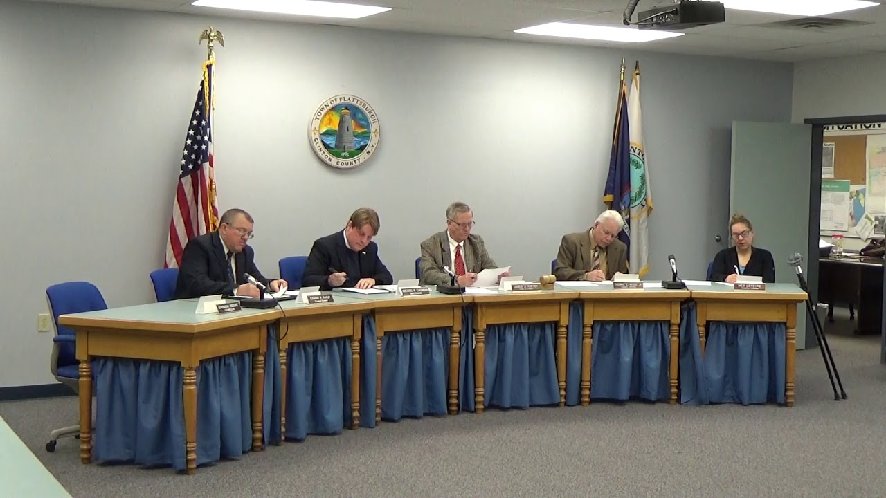 Town Of Plattsburgh Meeting  2-15-18