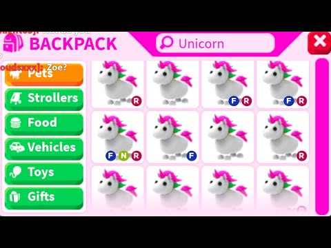 Say I M Here For Free Unicorns Roblox Adopt Me Youtube