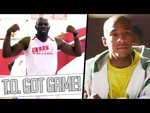 Terrell Owens VS Worm From Coach Carter! T.O. Shows Off Basketball Skills & JUMPER in LA Pickup!