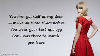 Taylor Swift - The Last Time ft. Gary Lightbody (Lyrics)