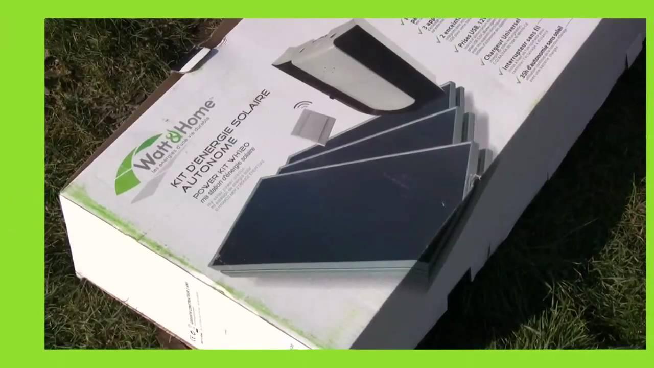 kit d 39 nergie solaire autonome watt home youtube. Black Bedroom Furniture Sets. Home Design Ideas