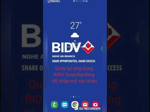 Hướng dẫn cài đặt BIDV Smartbanking