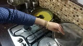 Indian woman kitchen routine in kids exam time / Indian food recipes