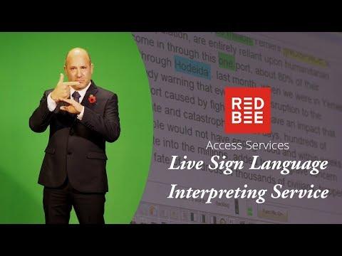 Live Sign Language Interpreting Service – Red Bee Media
