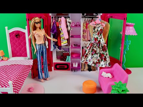 Barbie Doll Fashion Outfit and Fashion Show Boneca Barbie Fashion Outfit e Desfile de Moda