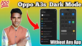 How To Use Dark Mode In Oppo A3s II Oppo A3s Dark Mode Theme ll Dark Mode Oppo A3s.
