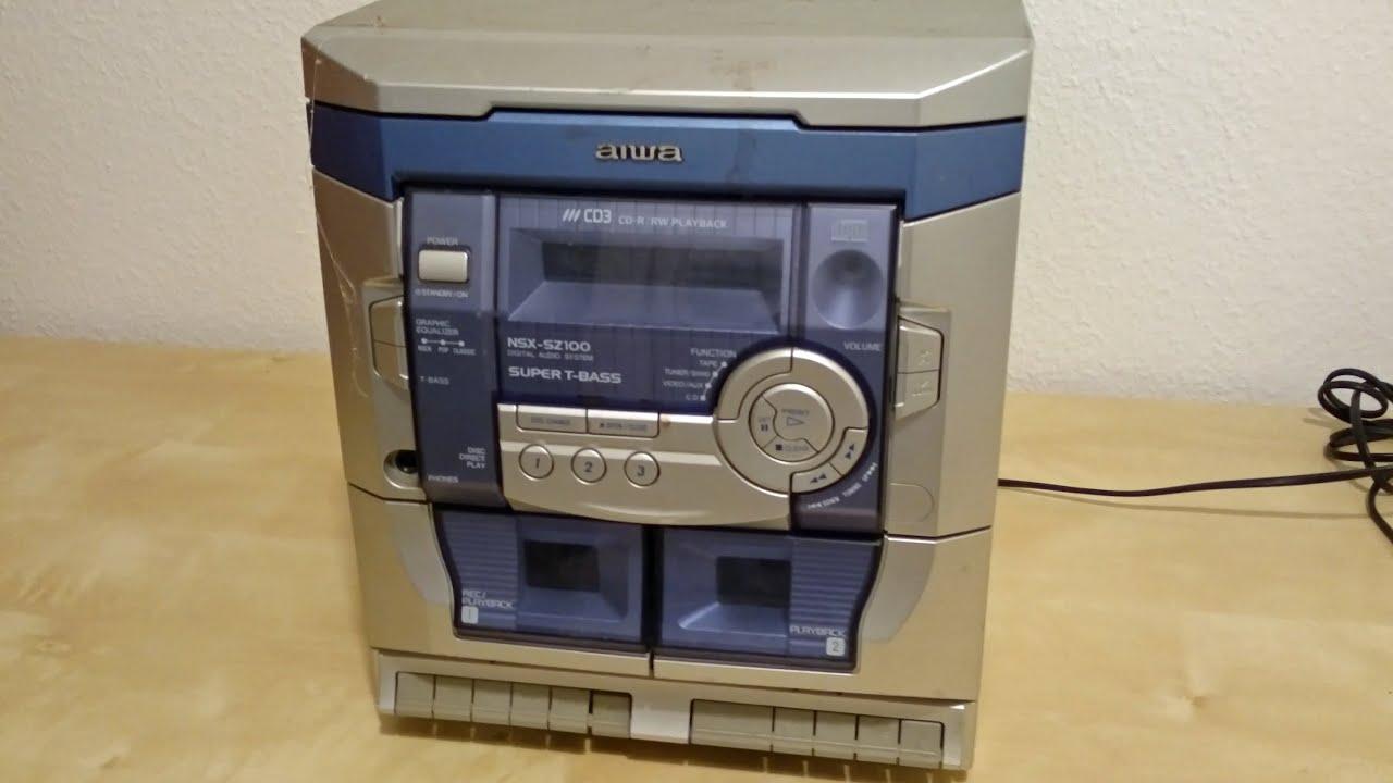hight resolution of aiwa stereo system teardown