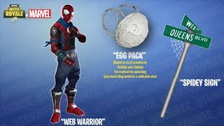 NOUVEAU SKIN FORTNITE (spiderman)!!