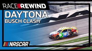 Kyle Busch capitalizes on Ryan Blaney/Chase Elliott wreck   Race Rewind   Busch Clash