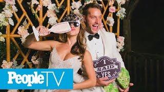 Justin Hartley & Chrishell Stause's Wedding Menu & Ombré Cake | PeopleTV | Entertainment Weekly