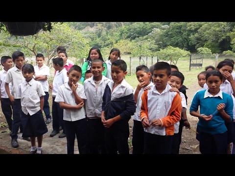 Visiting the remote school in Laguna de Alegria, El Salvador